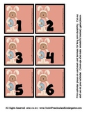 Easter Bunny Themed Calendar Pieces / Memory Game Sets - 3