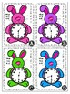 Easter Bunny Themed Telling Time to the Half-Hour Roam the Room Task Cards