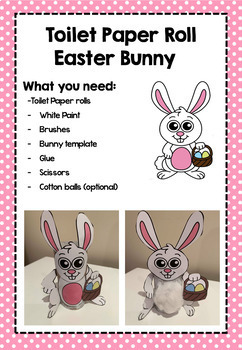 Easter Bunny Cardboard Roll Craft