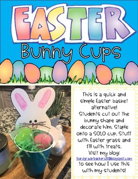 Easter Bunny Treat Cups Freebie