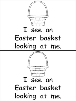 Easter Bunny What Do You See Emergent Reader for Kindergarten- Spring