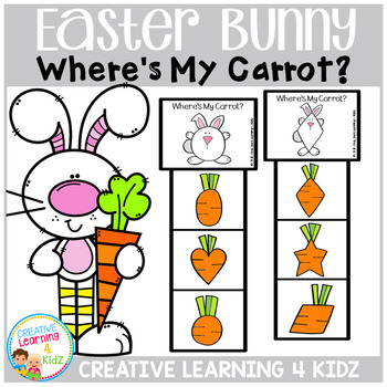 Easter Bunny Where's My Carrot? Clip Cards
