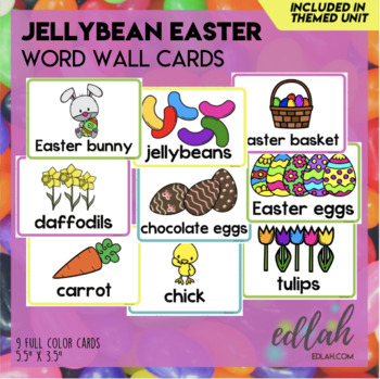 Easter Bunny Word Wall Cards (set of 8)