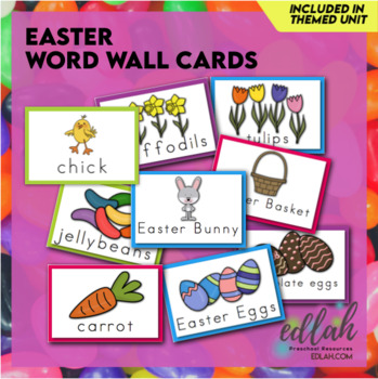 Easter Bunny Vocabulary Word Wall Cards (set of 8)