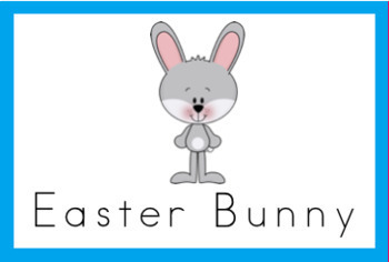 Easter Bunny Vocabulary Word Wall Cards (set of 9) Full Color-Version#1