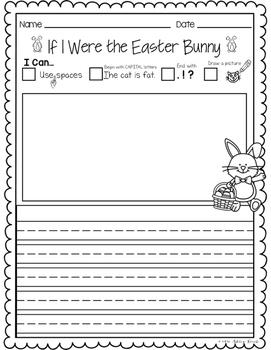 Easter Bunny Writing