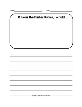 Easter Bunny Writing Activities
