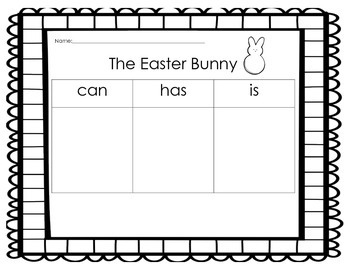 Easter Bunny Writing ( CAN/HAS/IS