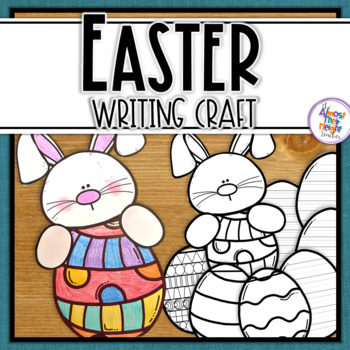 Easter Bunny Writing Flip Book Craft activity