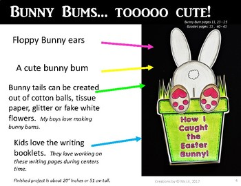 EASTER BUNNY and BUNNY BUMS :: A Fictional and Non-Fictional Writing Craftivity