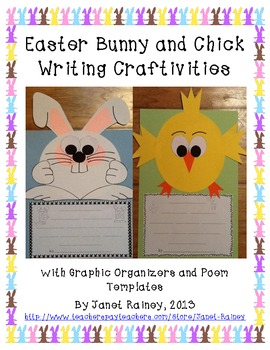 Easter Bunny and Chick Writing Craftivities to Celebrate Spring
