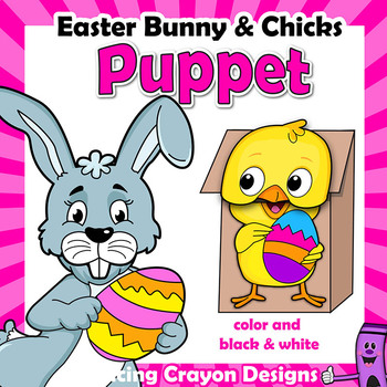 Easter Bunny Puppet BUNDLE with Chicks | Easter Craft Activity
