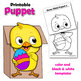 Easter Bunny Puppet BUNDLE with Chicks   Easter Craft Activity