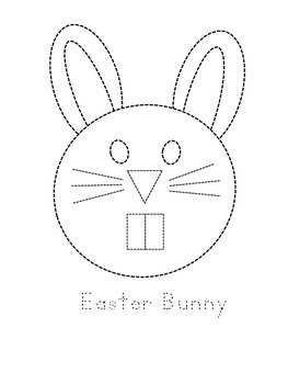 Easter Bunny and Egg Tracing Sheets