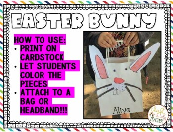 Easter Bunny basket and headband craft