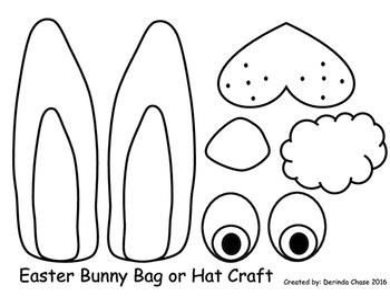 Easter Bunny basket and headband craft