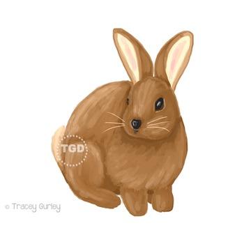 Easter Bunny clip art, Rabbit clip art Printable Tracey Gurley Designs