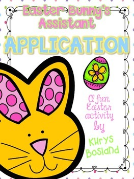 Free Easter Bunny's Assistant Application and Hoppy Helper ID Cards