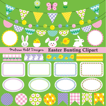 Easter Bunting Clipart