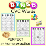CVC Words Bingo Sheets Spring Themed