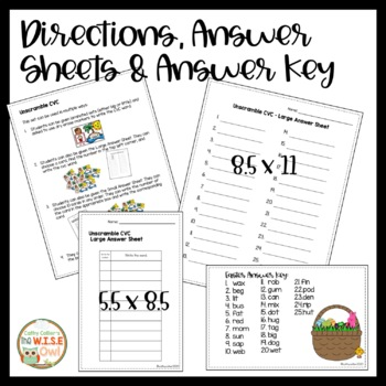 Small Group Interventions Set: Easter CVC Cards