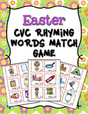 Easter CVC Rhyming Words Match Game
