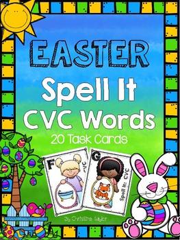 Easter CVC Spell It Task Cards