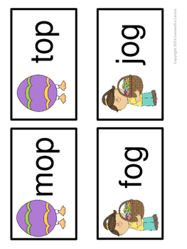 Easter CVC and Rhyming Words