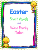 Easter CVC and Word Family Matching