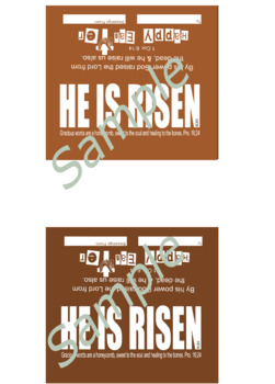 Easter Candy Bar Wrapper - Christian verses Colorful