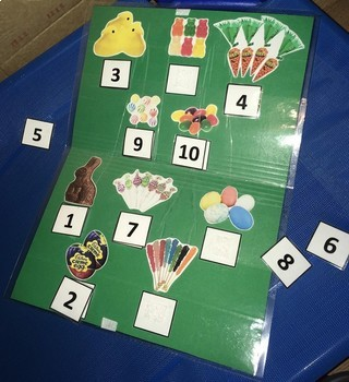 Easter Candy File Folder Game: Numeral to Quantity Match 1-10