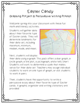 Easter Candy Graphing Projects & Writing Prompt