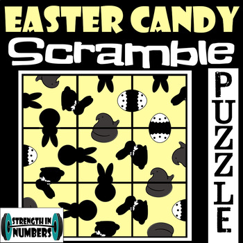 Easter Candy (Peeps) Spring SCRAMBLE Puzzle for Early Finishers
