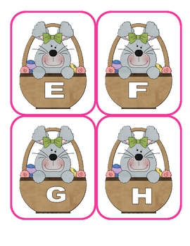 Easter Capital Alphabet Flashcards