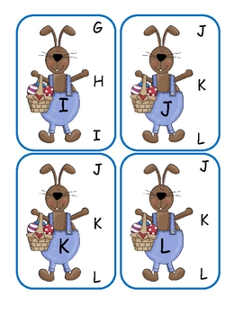 Easter Capital to Capital Alphabet Clip Cards
