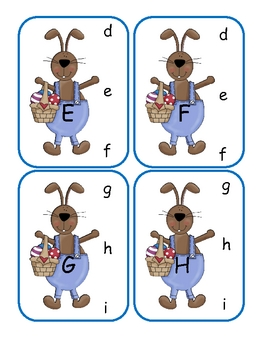 Easter Capital to Lowercase Clip Cards