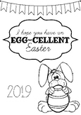Easter Card Front Covers - Colouring Sheets