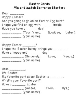Easter Cards: Differentiated for ALL your Special Ed Students
