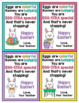 Easter Cards for Students - Editable in color & black and white!