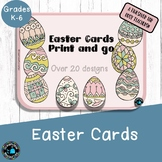 Easter Cards to Color -Print and go  #luckydeals