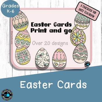 Easter Cards to Color -Print and go