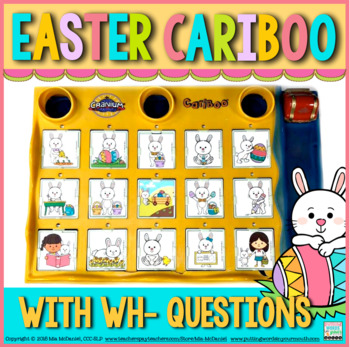 Cariboo for Easter {for WH-questions & language therapy}