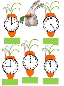 Easter Carrot Clocks