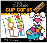 Easter Carrots 2D Shapes Clip Cards