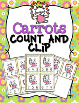 Easter Carrots Count and Clip Cards