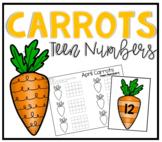 Easter Carrots Teen Number Ten Frames Math Center
