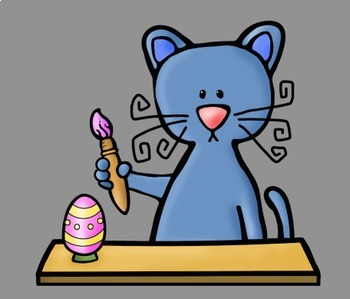 Easter Cats Clip Art
