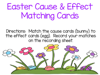 Easter Cause & Effect Matching Cards