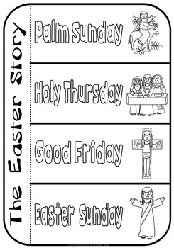 Easter ~ Celebrating the Events of Jesus ~ Interactive Template
