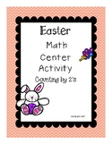 Easter Center - Counting by 2's - Easy Prep - Game and Worksheet